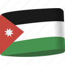 arab, country, flag, flags, jordan, map, national