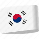 country, flag, flags, global, korea, location, map icon