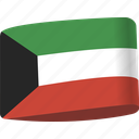 arab, country, flag, flags, kuwait, map, national