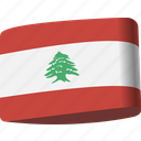 arab, country, flag, flags, lebanon, map, national