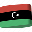 arab, country, flag, flags, libya, map, national
