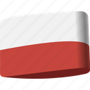 country, flag, flags, global, location, map, poland icon