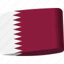 arab, country, flag, flags, map, national, qatar icon
