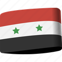 arab, country, flag, flags, map, national, syria