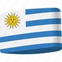 country, flag, flags, global, location, map, uruguay icon