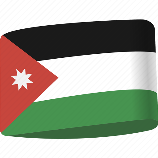 arab, country, flag, flags, jordan, map, national icon