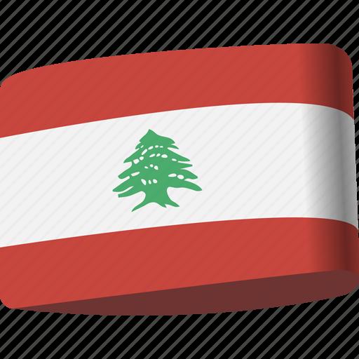 arab, country, flag, flags, lebanon, map, national icon