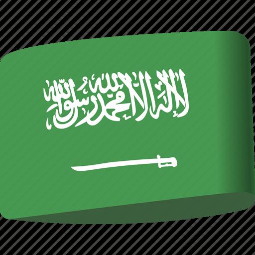 arab, arabia, country, flag, flags, ksa, saudi icon