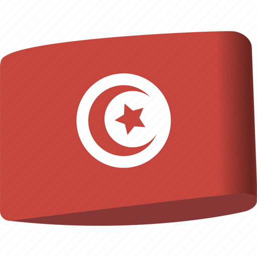 arab, country, flag, flags, map, national, tunisia icon