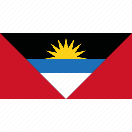 and, antigua, barbuda, country, flag icon
