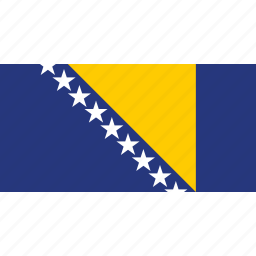 and, bosnia, country, flag, herzegovina icon