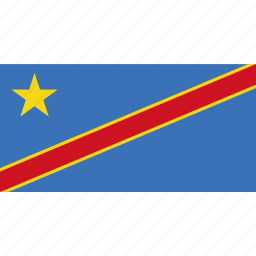 congo, country, dr, flag icon