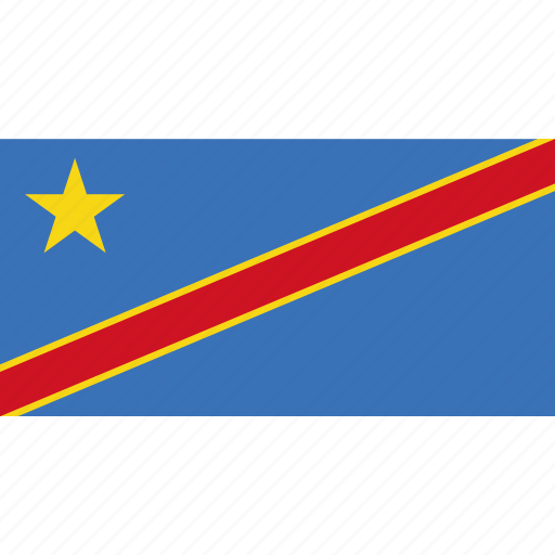 congo, country, dr, flag icon