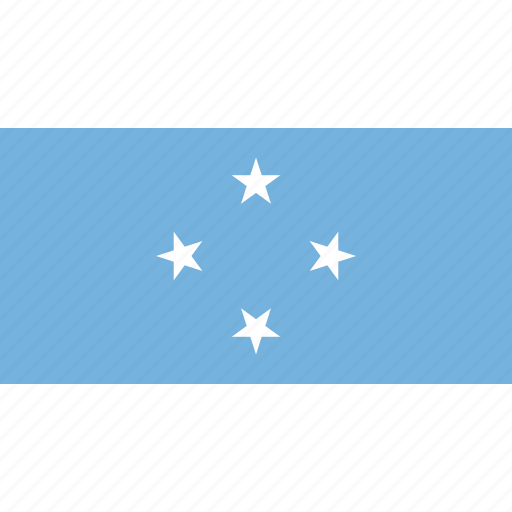 country, flag, micronesia icon