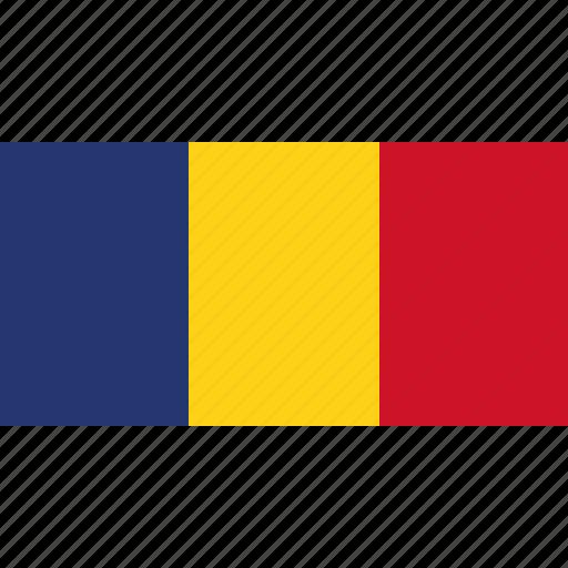 country, flag, romania icon