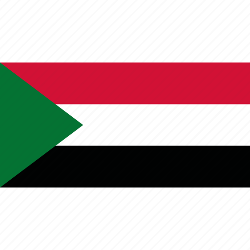 country, flag, sudan icon