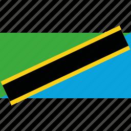 country, flag, tanzania icon