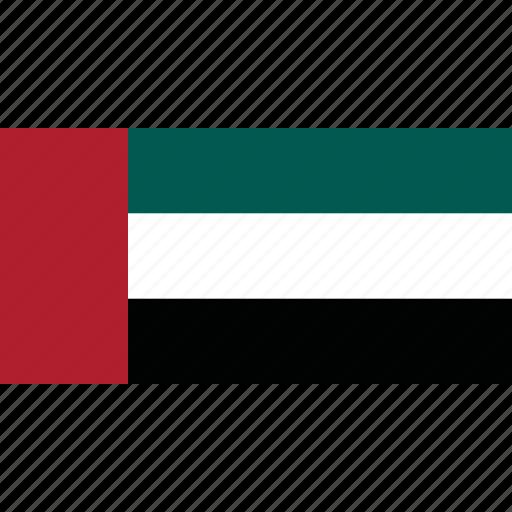 arab, country, emirates, flag, united icon