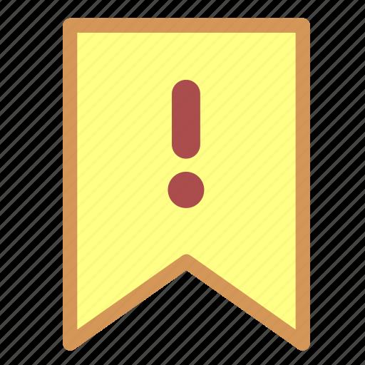 alarm, alert, flag, important, label, mark, remind, tag icon