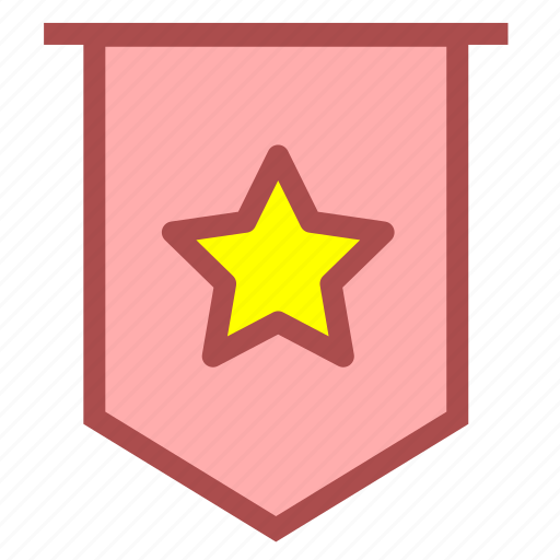 acclaim, awards, commend, compliment, flag, praise icon