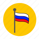 flag, russia, russian, russian flag icon