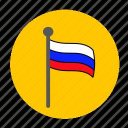 flag, russia, russian, russian flag icon