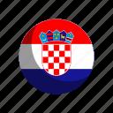croatia, flag, flags icon