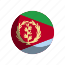 eritrea, flag, flags icon