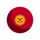flag, flags, kyrgyzstan icon