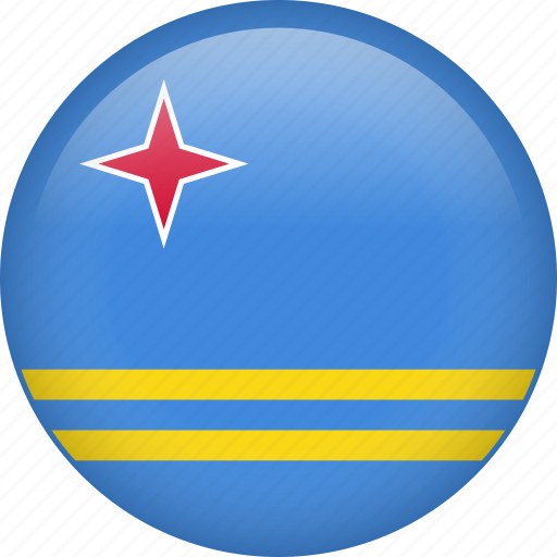 aruba, country, flag, nation icon