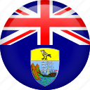 country, flag, nation, saint helena icon