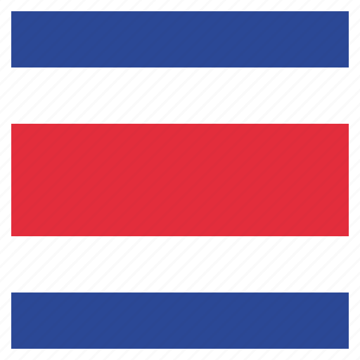 costa, costa rican, country, flag, national, rica icon