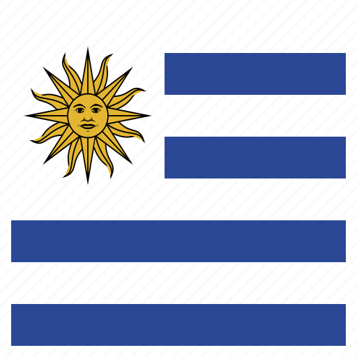 country, flag, national, uruguay, uruguayan icon