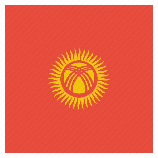 country, flag, kyrgyzstan, national icon