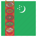 country, flag, national, turkmenistan, turkmenistani icon