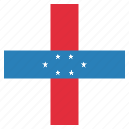 antilles, country, flag, national icon