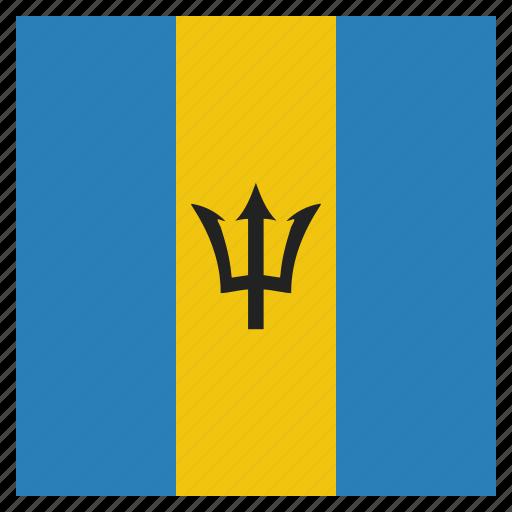 barbados, caribbean, country, flag, island, national icon