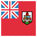 bermuda, bermudan, circle, flag icon