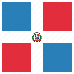 country, dominican, flag, republic icon