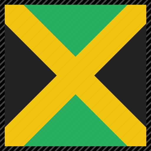 caribbean, country, flag, jamaica, jamaican, national icon