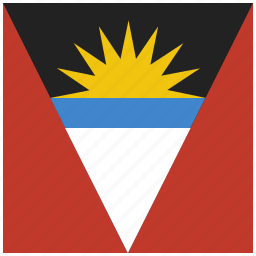 antigua, barbuda, caribbean, country, flag, national icon