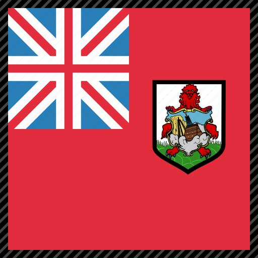 bermuda, bermudan, circle, flag icon