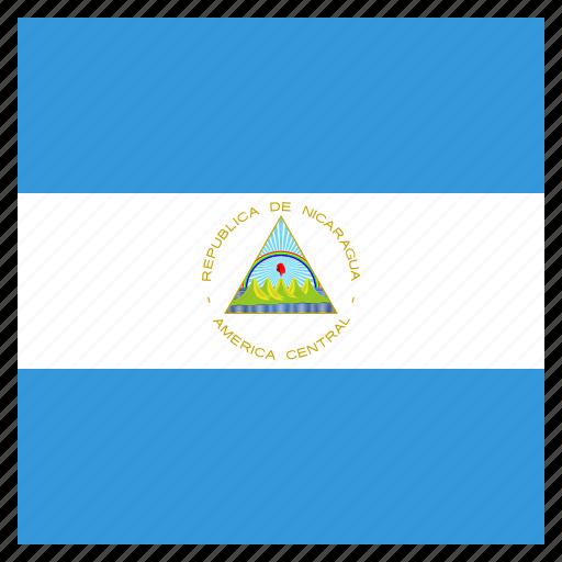 country, flag, national, nicaragua, nicaraguan icon