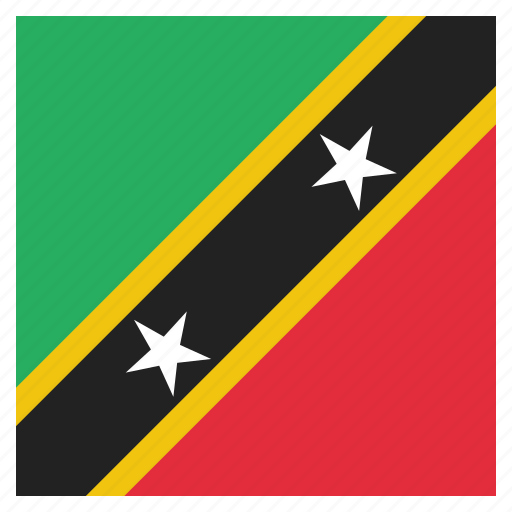 caribbean, country, flag, kitts, national, nevis, st icon