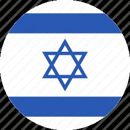 circle, flag, israel, israeli, jewish, state icon