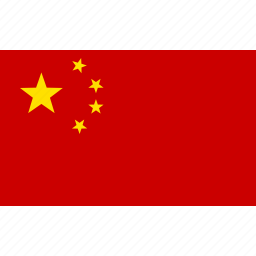 china, chinese, flag, kingdom, middle, people's, republic icon