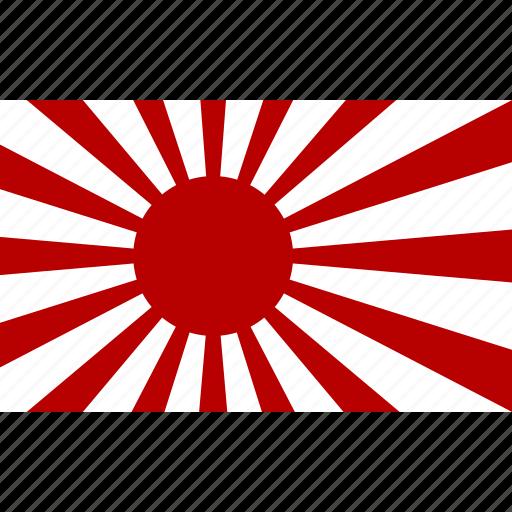feudal, flag, japan, japanese, nippon, rising, sun icon