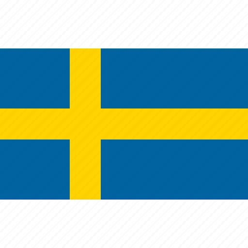 country, flag, national, sverige, sweden, swedish icon