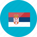 country, flag, flags, location, national, serbia, world icon