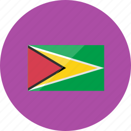 country, flag, flags, guyana, map, national, world icon
